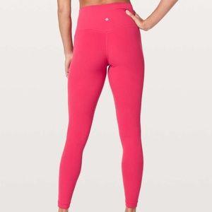 """New Lululemon Align Pant 28"""" Size 6 Fuchsia Pink"""